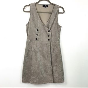 Lulus corduroy dress jumper taupe size M